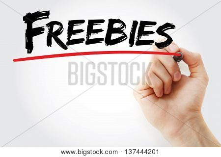 Hand Writing Freebies With Marker