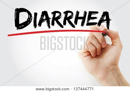 Hand Writing Diarrhea With Marker