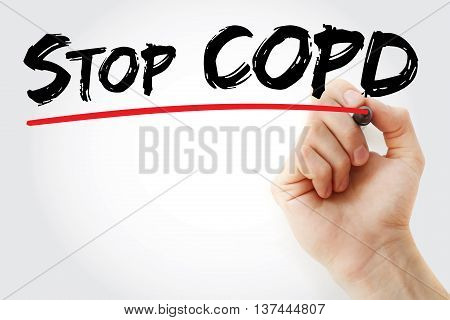 Hand Writing Stop Copd With Marker