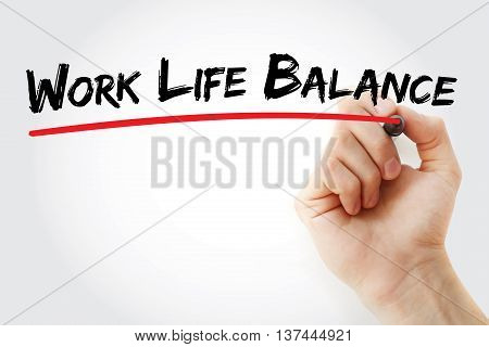 Hand Writing Work Life Balance