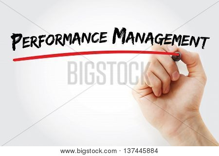 Hand Writing Performance Management