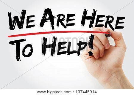 Hand Writing We Are Here To Help