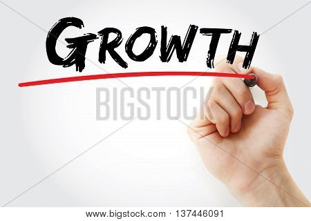 Hand Writing Growth With Marker