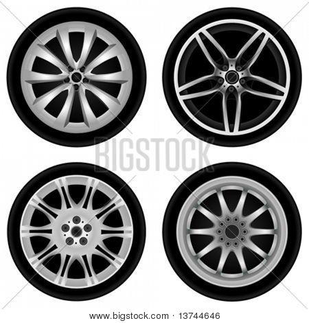 chrome wheel vector
