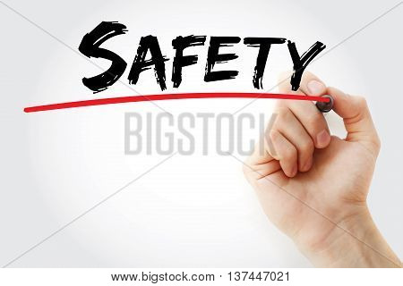 Hand Writing Safety With Marker