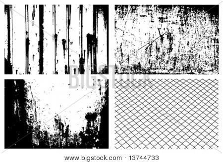 grunge textures design elements vector