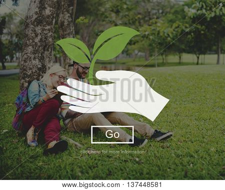 Environment Nature Plant Saving Life Concept
