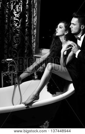 Elegant Couple In Bath