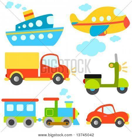 Cartoon-Fahrzeuge-Vektor