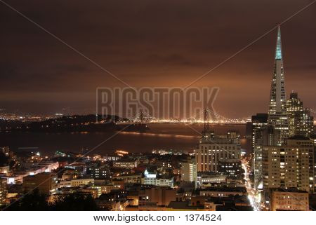 San Francisco Downtown And Bay Bridge