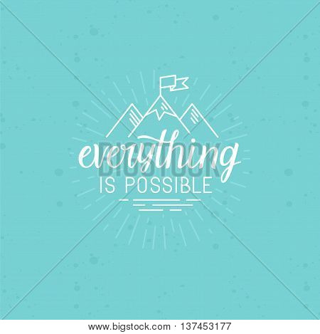 Vector Illustration With Hand-lettering Phrase