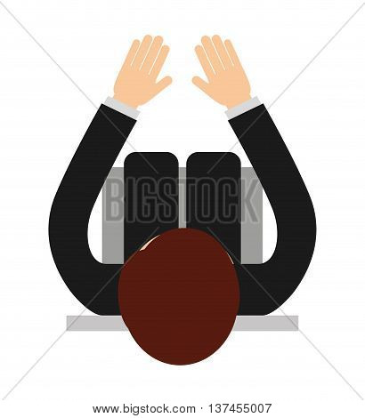 businessperson sitting  isolated icon design, vector illustration  graphic