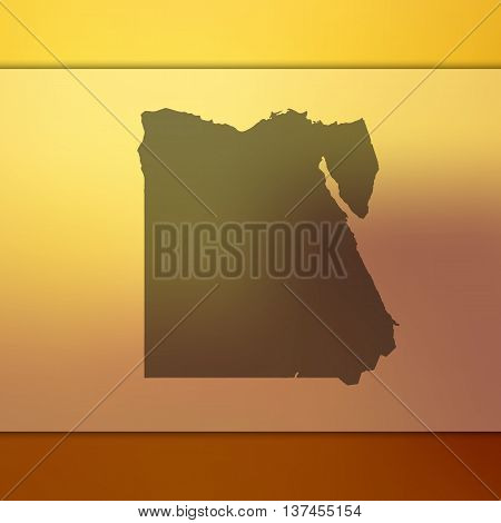 Blurred background with silhouette of Egypt. Egypt.