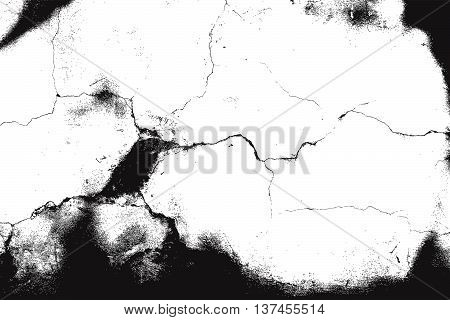 Distress Texture. Cracked Texture. Grunge Background for your design. EPS10 vector.