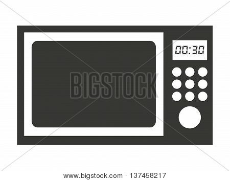 microwave oven isolated icon design, vector illustration  graphic