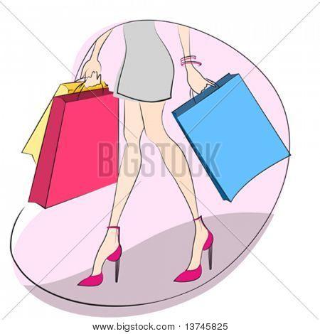 shopping concept vector