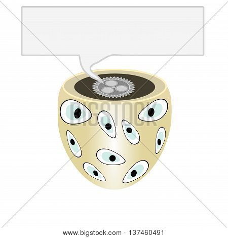 Abstract engineering object. With a dedicated space for text. The illustration on a white background