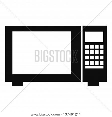 simple flat design microwave pictogram icon vector illustration