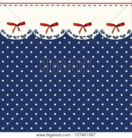 Blue Polka-dot Dress Printable Backround with Lingerie and bows