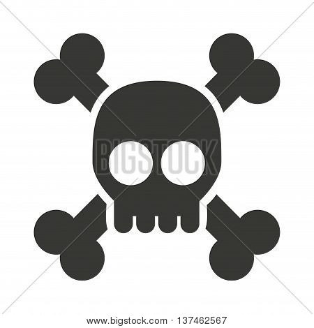alert skull  isolated icon design, vector illustration  graphic