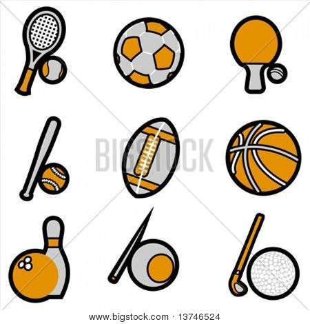 sport object icon set