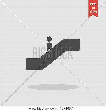 Escalator Icon. Flat Design Style.