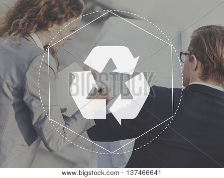 Recycle Biodegradeable Solution Empower Graphic Concept