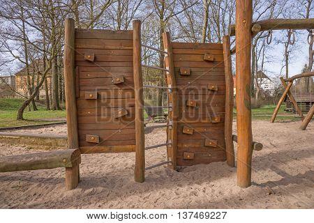 Children's playground in the park, empty playground