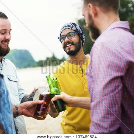Men Cheers Drinking Cheerful Community Concept