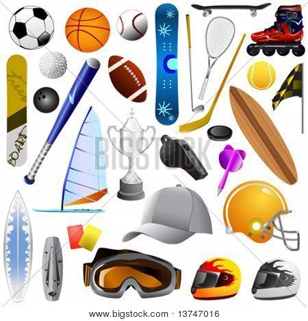 Big Set Of Sport Objects