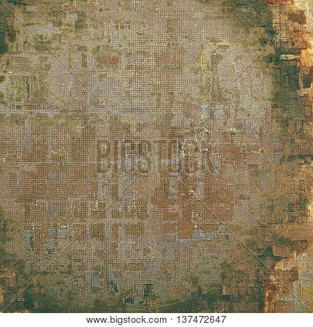 Vintage and retro design elements on faded grunge background. With different color patterns: yellow (beige); brown; green; gray