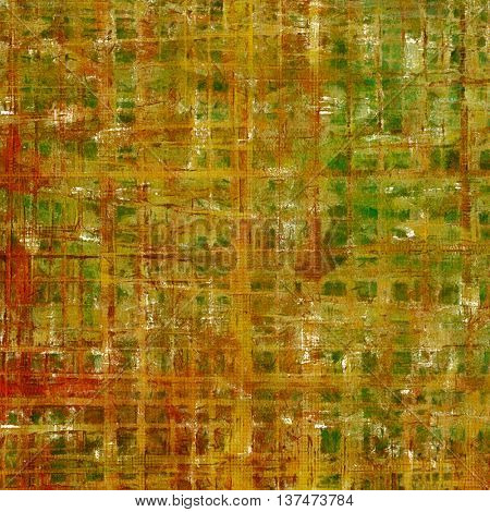 Stylish grunge texture, old damaged background. With different color patterns: yellow (beige); brown; green; red (orange); gray