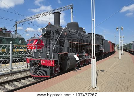MOSCOW, RUSSIA - JUNE 23, 2016: Locomotive Ea series (