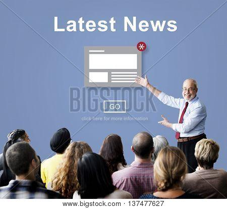 Latest News Announcement Broadcast Article Concept