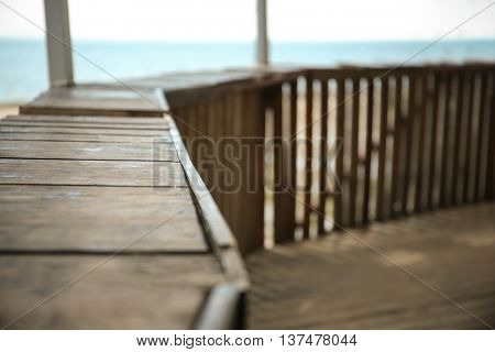 Summerhouse on the seaside, closeup