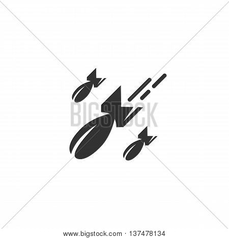 Bomb icon isolated on white background. Bomb vector logo. Flat design style. Modern vector pictogram for web graphics. - stock vector
