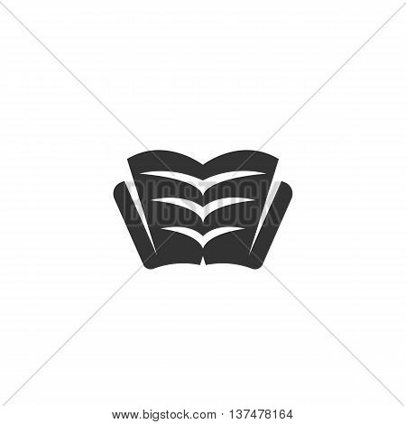 Book icon isolated on white background. Book vector logo. Flat design style. Modern vector pictogram for web graphics. - stock vector