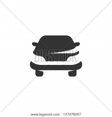 Car icon isolated on white background. Car vector logo. Flat design style. Modern vector pictogram for web graphics. - stock vector