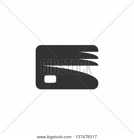 Credit card icon isolated on white background. Credit card vector logo. Flat design style. Modern vector pictogram for web graphics. - stock vector