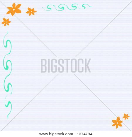Flower Framed Note Paper