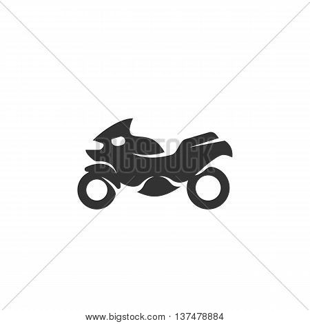 Motorcycle icon isolated on white background. Motorcycle vector logo. Flat design style. Modern vector pictogram for web graphics. - stock vector