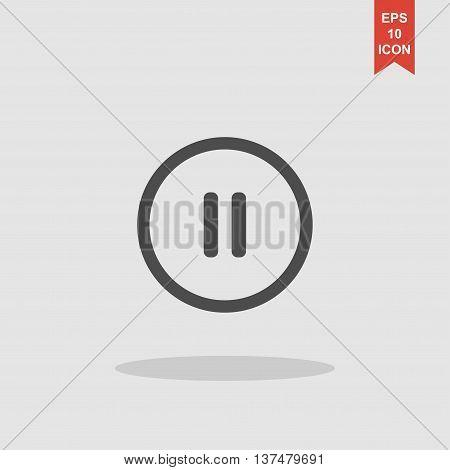 Pause Flat Web Icon