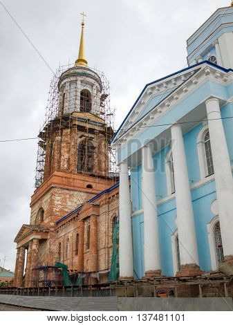 Church of the Assumption of the Most Holy Theotokos. Yelets Lipetsk region Russia. Construction of the temple: 1815-1841. The church was built as a monument to the victory of the Russian people in the Patriotic War of 1812. In 1995 restoration work starte