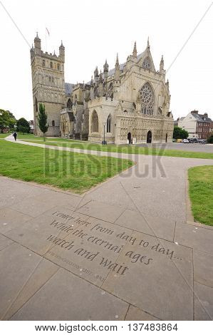 Cathedral Church of Saint Peter at Exeter is one of the finest examples of Gothic architecture in England