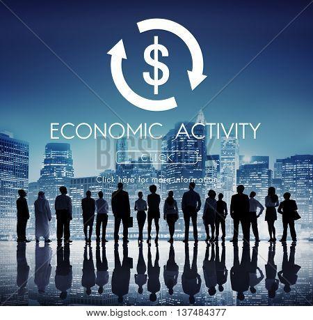 Financial Trade Economics Financial Graphic Concept