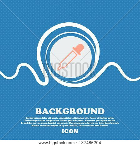Pipette Sign. Blue And White Abstract Background Flecked With Space For Text And Your Design. Vector