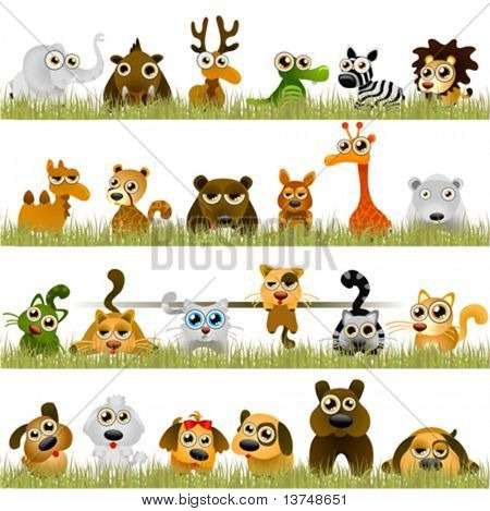 cartoon animals (big set)