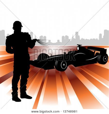 formula and race car