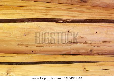 A log cabin wall built from logs as a background
