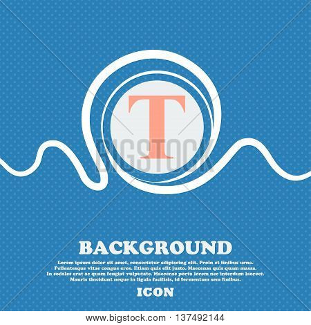 Text Edit Icon Sign. Blue And White Abstract Background Flecked With Space For Text And Your Design.